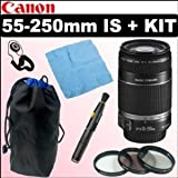 Canon EF-S 55-250mm f/4.0-5.6 IS Telephoto Zoom Lens + Kit Accessoires Somptueuxpar Canon