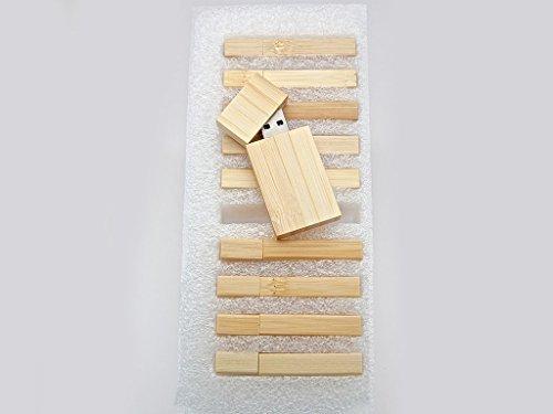 10 2GB Flash Drive - Bulk Pack - USB 2.0 Wooden Bamboo Stick Design - 2 GB Flash Drive