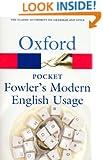 Pocket Fowler's Modern English Usage (Oxford Paperback Reference)