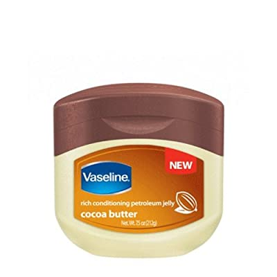 Vaseline Rich Conditioning Petroleum Jelly, Cocoa Butter (Pack of 4)