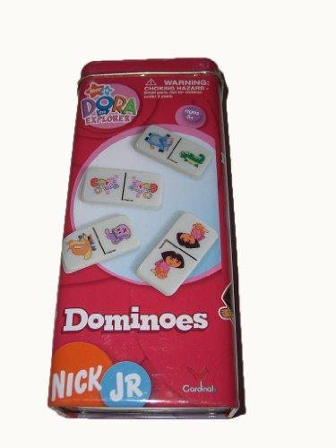 Nick Jr DORA the EXPLORER Tile Dominoes Set - MINI Red Tin Version