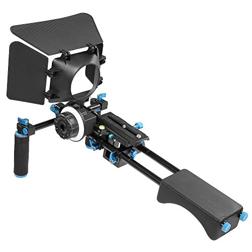 Neewer Movie Kit Film Rig for DSLR Camera Such as Canon 5D mark II,III/700D 650D 600D;Nikon D7200 D7100 D7000 D5200 include:1*Shoulder Rig+1*Matte Box+1*Follow Focus(Fits Lens Diameter:65-103mm) (5d Mark Ii Rig compare prices)