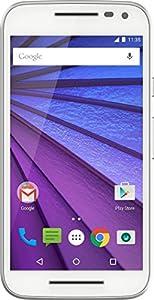 Motorola Moto G 3ème génération Smartphone débloqué 4G (Ecran: 5 pouces - 8 Go - 1 Go RAM - Simple Micro-SIM - Android 6.0 Marshmallow) Blanc