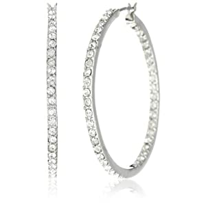 Nina Bridal Anne Crystal Incrusted Hoop Earrings