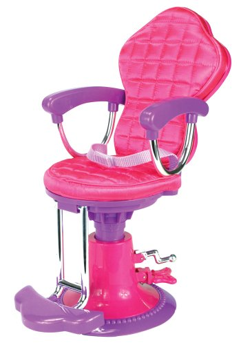 Doll Chair, Salon Doll Chair Fit For 18 Inch American Girl Doll Bed Room, Doll Furniture Provides A Perfect Doll Salon Chair For Brushing Your Dolls Hair front-10026