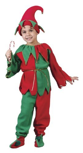 Childs Elf Costume - Kids Elf - 6 PC SET 8-10
