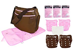 Trend Lab Cloth Diaper Starter Kit, Girls