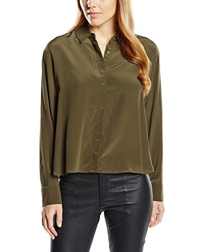 French Connection Camisa Mujer Caqui