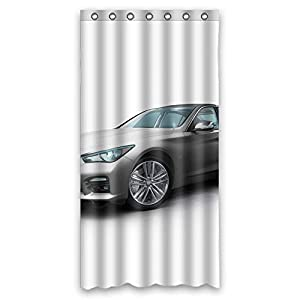 Rust Proof Polyester Shower Curtains Car Size 36 W X 72 H Modern Design Best