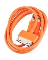 BestOfferBuy - Câble chargeur USB de couleur Orange pour APPLE iPad, iPhone et iPod