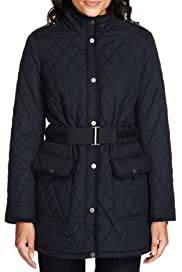 Per Una Pure Cotton Quilted Jacket with Stormwear? [T62-4002J-S]