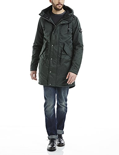 Bench Winsome, Giubbotto Uomo, Grün (Darkest Green GR214), Small