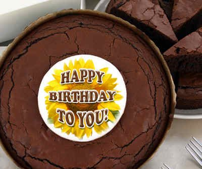 Birthday Brownie Cake - Sunflower