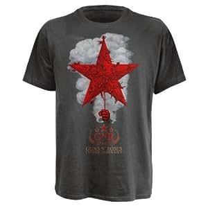 T-Shirt Guns N'Roses Gris Star With Smoke L (T-Shirt taille Large)