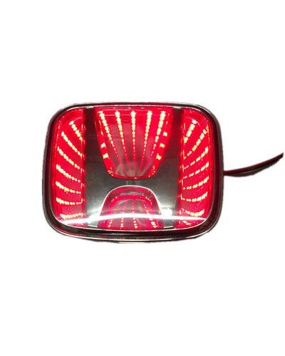 Nadotuning Car 3D Led Logo Lights Emblem Badge Sticker Lamp For Honda Accord Red