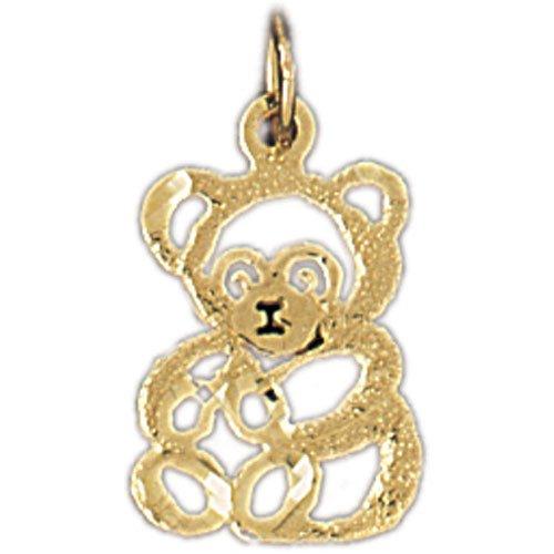 CleverEve's 14K Gold Charm Teddy Bear 0.8 - Gram(s)