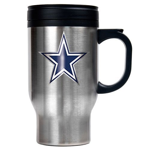 NFL Dallas Cowboys 16oz Stainless Steel Travel Mug (Primary Logo) at Amazon.com