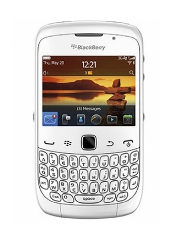 BlackBerry Curve 3G 9300 White WiFi Unlocked QuadBand Cell Phone