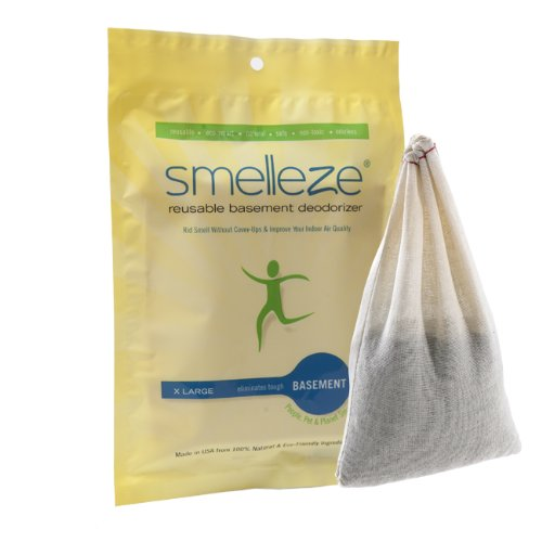 smelleze reusable basement odor removal deodorizer pouch rids musty
