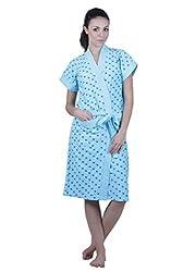 Vixenwrap Womens Bath Robe (V2620511BR_Blue_Free Size)