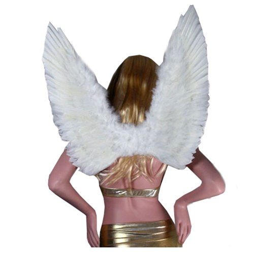 SACAS Large White Feather Angel Wings for women, men and teens
