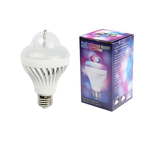3W Led Stage Light E27 Ac100-240V Full Color Rotating Lamp Strobe Led Crystal Stage Light For Disco Party Club Bar Dj . Ball Bulb