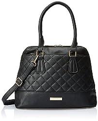Lino Perros Women's Satchel Handbag (Black)