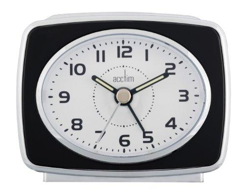 13873 Retro 2 Alarm Clock, Black 13873 13873 By Acctim