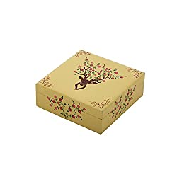 The Crazy Me Deer Pattern Wooden Jewellery Box (hand painted)