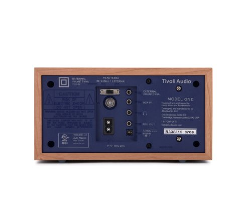 tivoli audio model one am fm table radio cherry cobalt blue electronics players recorders radios. Black Bedroom Furniture Sets. Home Design Ideas
