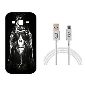 Designer Hard Back Case for Samsung Galaxy On5 with 1.5m Micro USB Cable