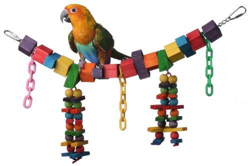 Cheap Super Bird Creations 7 by 18-Inch Rainbow Bridge Jr. Bird Toy, Medium (SB449)