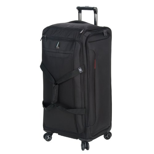 Delsey Luggage Helium X'pert Lite Ultra Light 4 Wheel Spinner Duffel, Black, 28 Inch best seller