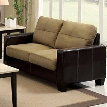 Townsend Loveseat Color: Dark Taupe