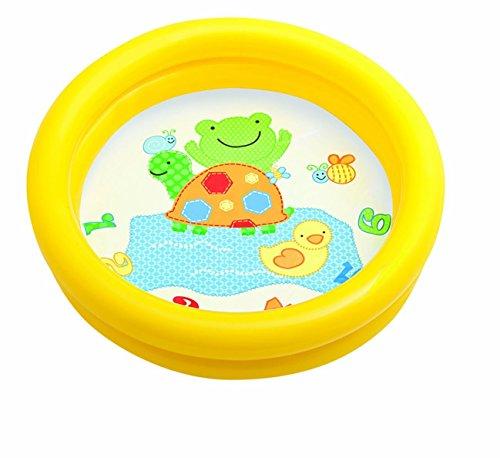 Intex 59409 - Piscina Baby Fondo Animaletti, 61 x 15 cm, Giallo/Verde