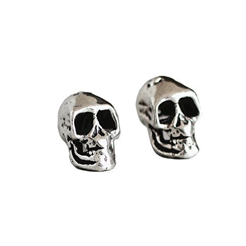Skull Halloween Earrings 925 Sterling Silver Stud Earrings For Men and Women