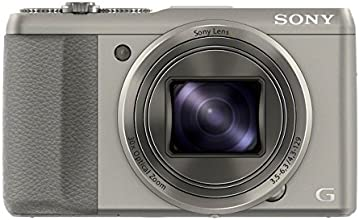 Sony DSC-HX50 Digitalkamera (20,4 Megapixel, 30-fach opt. Zoom, 7,6 cm (3 Zoll) LCD-Display, Full HD, WiFi) inkl. 24mm Sony G Weitwinkelobjektiv silber