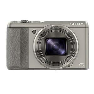 Sony DSC-HX50 Digitalkamera (20,4 Megapixel, 30-fach opt. Zoom, 7,6 cm (3 Zoll) LCD-Display, Full HD, WiFi) inkl. 24mm Sony G Weitwinkelobjektiv silber