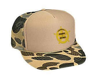 VOLUNTEER PORNO PATROL Adult Brown Camo Mesh Back Hat / Baseball CapVOLUNTEER PORNO PATROL Adult Brown Camo Mesh Back Hat / Baseball Cap