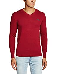 Superdry Men's Cotton Blend Sweater (5054126946945_M61LK038F1_Small_Rich Red Marl)
