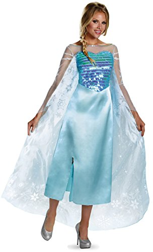 Disney's Frozen Elsa Snow Queen Gown Adult Classic Costume Size: Large (12-14)