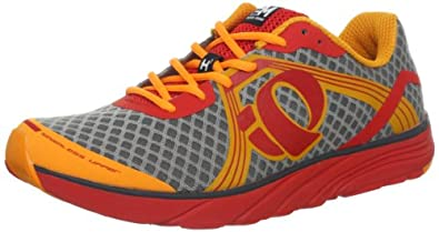 Pearl iZUMi Men's EM Road H 3 Running Shoe,Safety Orange/Fiery Red,7.5 D US