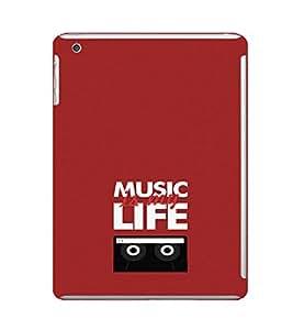 EPICCASE Music is Life Mobile Back Case Cover For Apple Ipad Mini 2 (Designer Case)