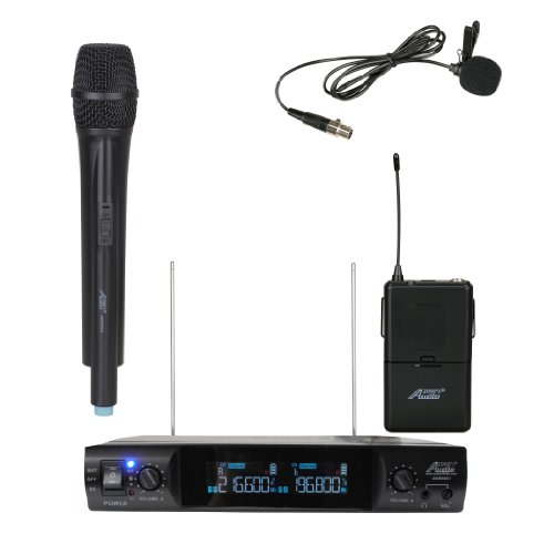 Audio2000 Wv6951L Vhf Portable Wireless Microphone With One Handheld & One Lapel