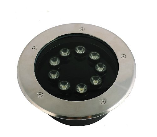 Domire Led Round 9W Waterproof Stainless Steel Ground Light Blue