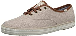 Keds Women\'s Champion Wool Fashion Sneaker, Oatmeal, 5 M US