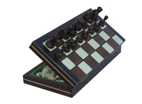 Magnetic Wooden Portable Chess Game Set - 9.25