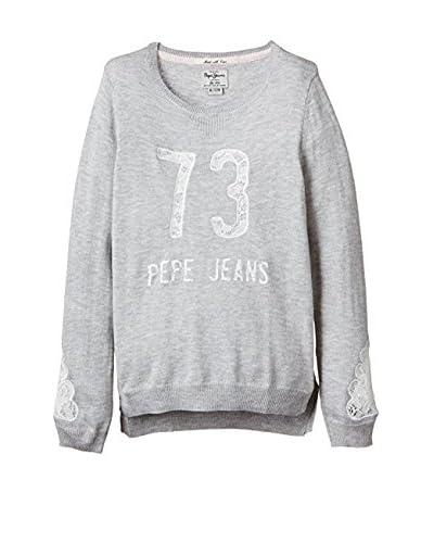 Pepe Jeans London Pullover Teresa hellgrau