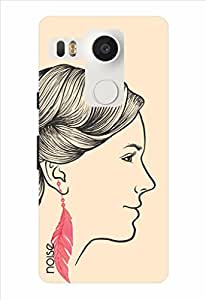 Noise Feather Earings - Pink Printed Cover for LG Nexus 5X