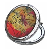 Boutique Music Notes Compact Mirror